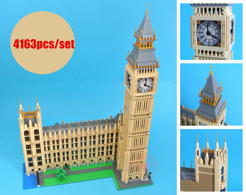 New City Streetview Big Ben Elizabeth Tower fit legoings city creator Model Building Kit Blocks Bricks diy Toy 10253 gift kid компрессор воздушный насос корея для hyundai grand santa fe 2012 2018