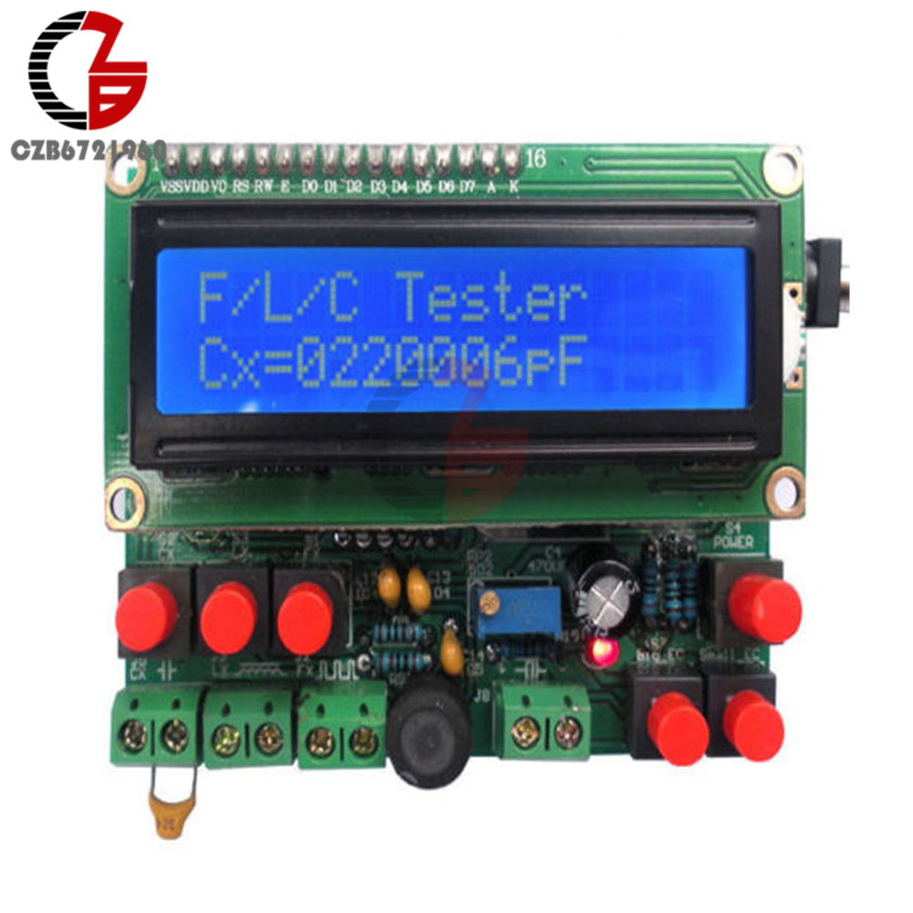 Offer Schematic ! Digital Secohmmeter Frequency Capacitance Inductance Meter CF Inductor Capacitor Tester Permittimeter DIY Kit