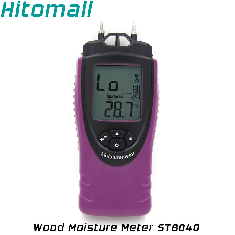 цены  Digital Wood Moisture Meter Wood Humidity Bamboo Timber Building Materials Moisture Tester Temperature Moisture Tester ST8040