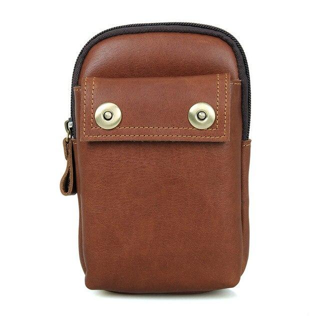 High Quality Men Genuine Leather Waist Bag Male Travel Fanny Pack Belt Loops Hip Bum Bag Wallet Purses Phone Pouch LI-1622