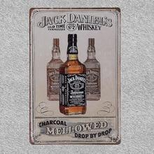 Retro Jack Daniels Whiskey Metal Decorative Poster