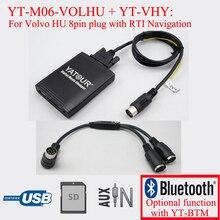Yatour radio usb sd digital mp3 player per volvo c70 s40 s60 s80 v40 v70 xc70 hu radio con navigazione sistema
