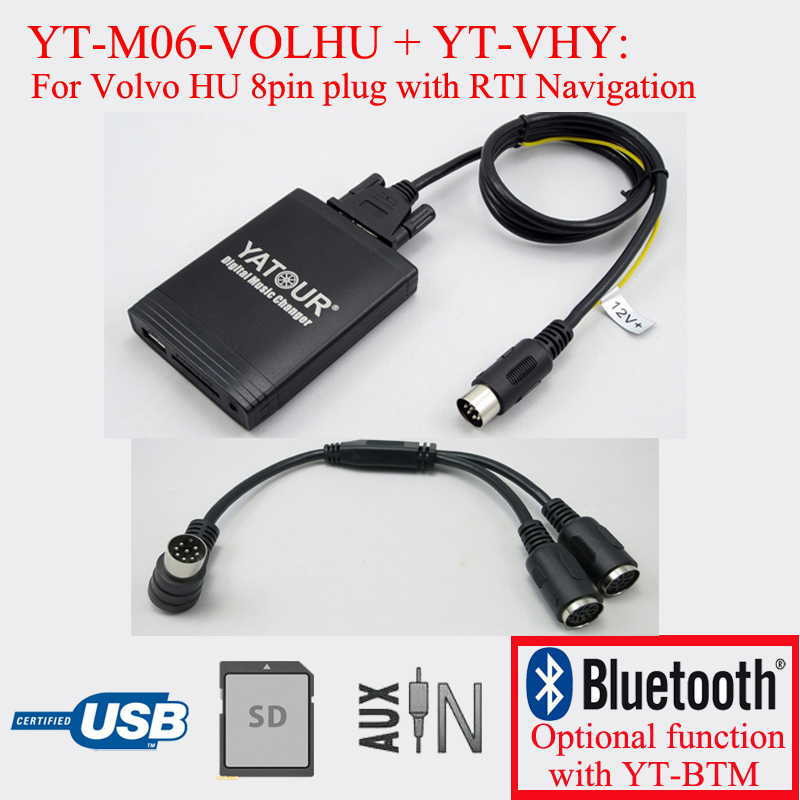 Yatour radio USB SD digital MP3 player for Volvo C70 S40 S60 S80 V40 V70 XC70 HU radio with Navigation system