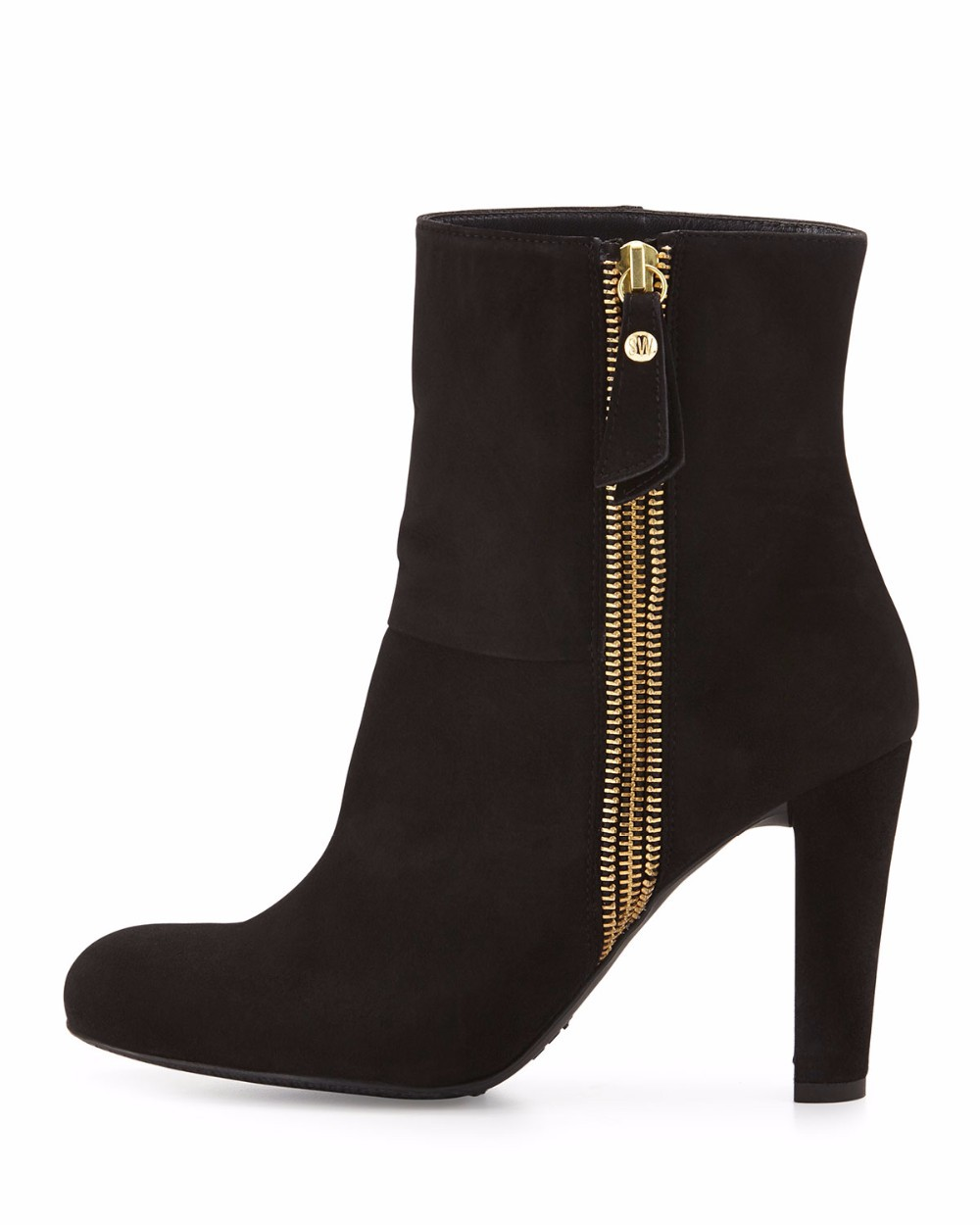 ФОТО 2016 New Fashion round toe square heel winter Boots zipper High Heel Women's Ankle boots Customize big size For Christmas