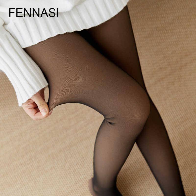 c172575e6 ... FENNASI Sexy Warm Black Women Tights Winter Leg Warmer Women Pantyhose  High Waist Female Tights Nylon