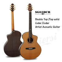 Master level handmade Nomex Double Top 40 Inch GS Jumbo Acoustic Guitar with Case