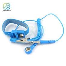 Sem fio sem fio clipe antiestático anti estático esd pulseira de pulso cinta descarga cabos para ferramentas de trabalho reparação eletrônica