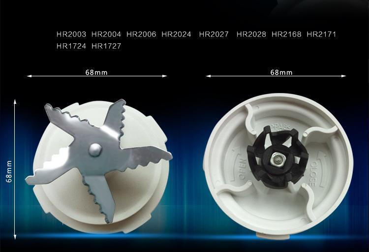 High-quality Blender BLADE+sealing Ring For Philips HR7625 HR7620 RI7620 RI7625 HR2160 HR2168 HR2003 HR2004 HR2006 HR2024 HR2027