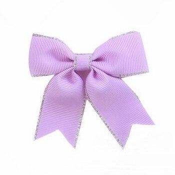200pcs/lot Purple Hair Bows PonyTail Holder