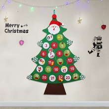 OurWarm Felt Advent Calendar 2018 New Year DIY Christmas Tree Door Wall Hanging Decorations for Home