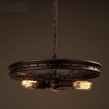 rueda de hierro de estilo loft droplight industrial viento vintage lmparas colgantes para comedor lmpara colgante