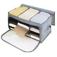 Высокое Качество Складной Бамбуковое Волокно сумка для хранения вещей коробка одеяло органайзер для одежды