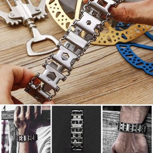 Image 5 - 29 in 1 Multifunctional Tread Bracelet Stainless Steel Outdoor Bolt Driver Kits Travel Friendly Wearable Multitool Hand Tools B2