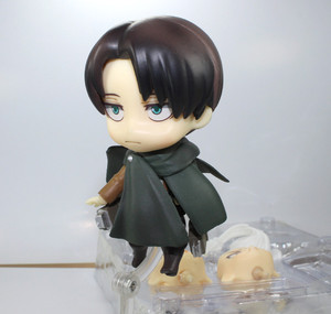 Image 2 - Japan Anime Action Figure Game Attack on Titan Levi Ackerman 390# 10cm PVC Model Collection Q Version Cute Toys Doll Brand New