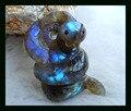 Semiprecious Stones Carved Animal Snake Labradorite Cabochon,40*22*13mm 9.9g Natural Stone cabochon animal carving labradorite