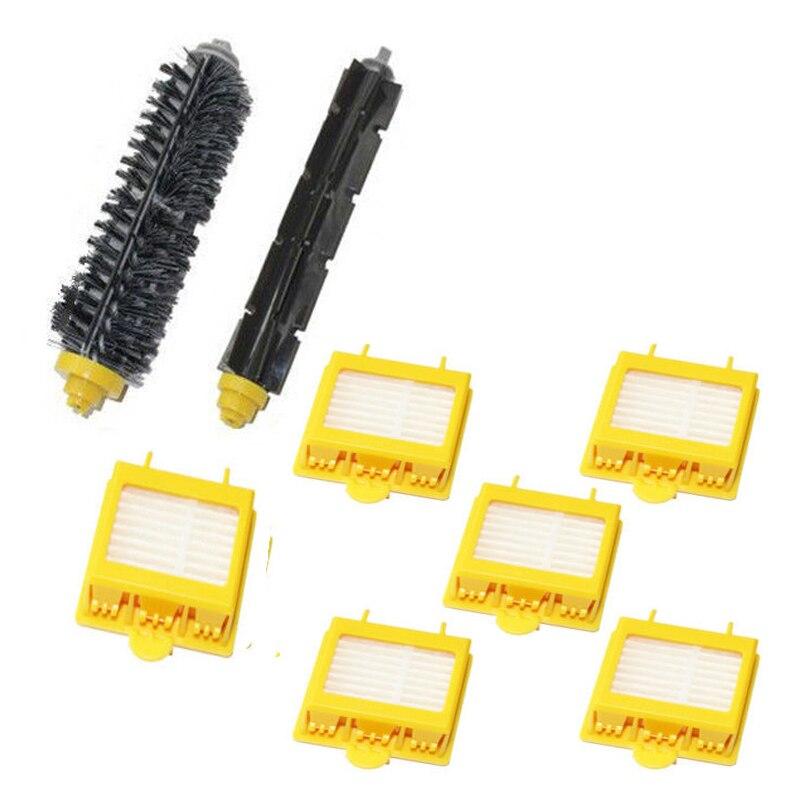 Replace Brush & 6 x Filters kit for iRobot Roomba 700 Series 760 770 780 New bristle brush flexible beater brush fit for irobot roomba 500 600 700 series 550 650 660 760 770 780 790 vacuum cleaner parts