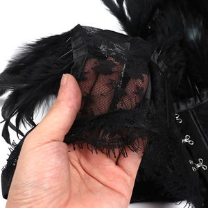 Image 5 - Steampunk Sexy Veer Kraag en Schouder Kant Cape Bolero Jas Schouderophalen Vrouwen Tops Sjaals Shawl Halloween Goth Rave Kostuums