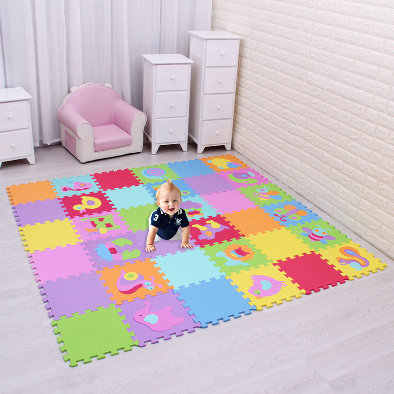 HTB1sDR7uCtYBeNjSspaq6yOOFXai EVA foam puzzlen/baby play mat foam play Puzzle mat / 18pcs/36pcs lot Interlocking Exercise TilesEach 30cmX30cm