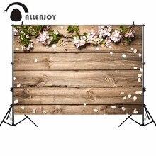 Allenjoy цветок задний фон для фотографий в виде деревянных планок Весна доска природа фоны для фотостудии photocall photobooth стрелять реквизит новый