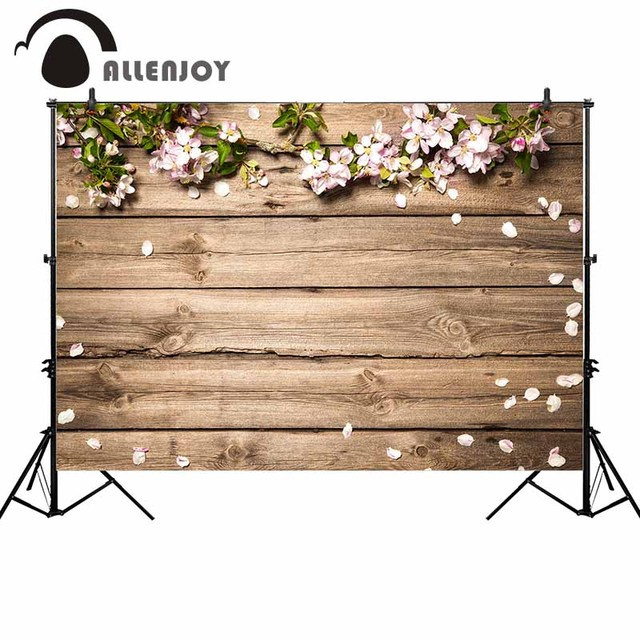 Allenjoy flower wood photography backdrop spring board nature backgrounds for photo studio photocall photobooth shoot props new