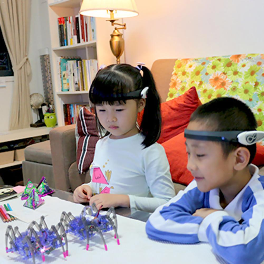 Jouets éducatifs pour enfants cerveau Radio vague idée contrôle bricolage Spider Intelligence Robot jouets cerveau vague Detector1 + jouet araignée - 3