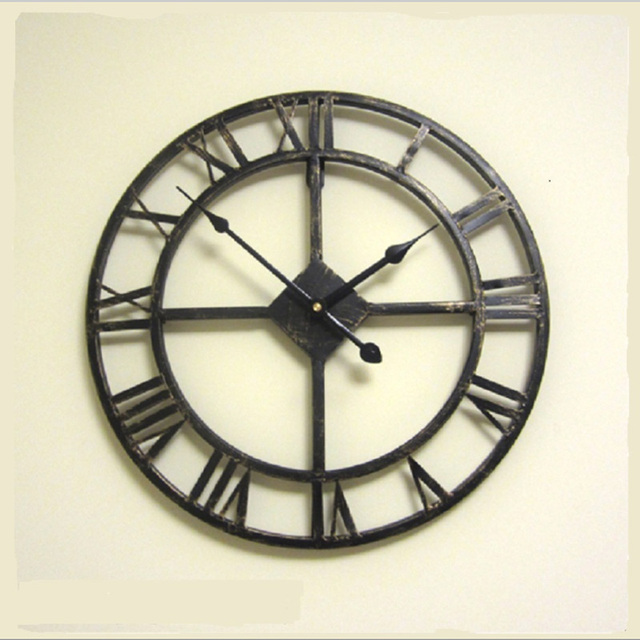 main surdimensionne 3d retro rustique decoratif de luxe art grande vitesse style romain vintage grande horloge