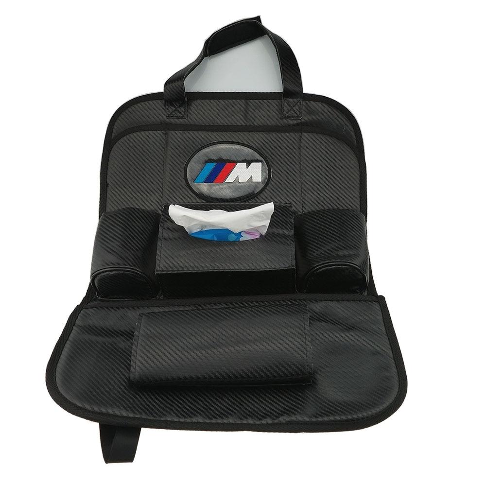 font b Car b font Back carbon fiber seat font b storage b font bag