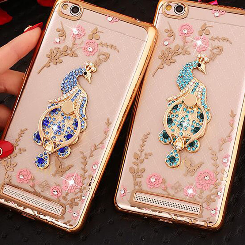 competitive price 5b017 eb434 US $3.69 |Bling Crystal Peacock Finger Holder Soft TPU Cover For Xiaomi  Redmi 4A 4 A Phone Fitted Case for Xiaomi Redmi A4 Red mi 4A-in Fitted  Cases ...