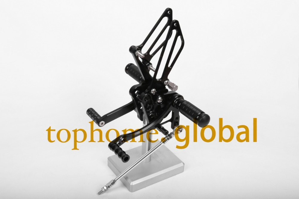 Free Shipping Motorcycle Black CNC Rearsets Foot Pegs Rear Set For Suzuki GSXR1000 2005-2006 motorcycle foot pegs aftermarket free shipping motorcycle parts front rider foot pegs bracket fit for suzuki gsxr1000 2005 2006 2007 2008 polish