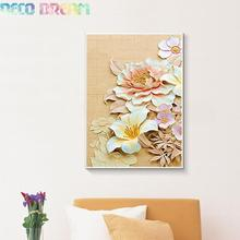 Diy Diamond Embroidery Print Peony Lily Flower Full Painting Chinese style Series