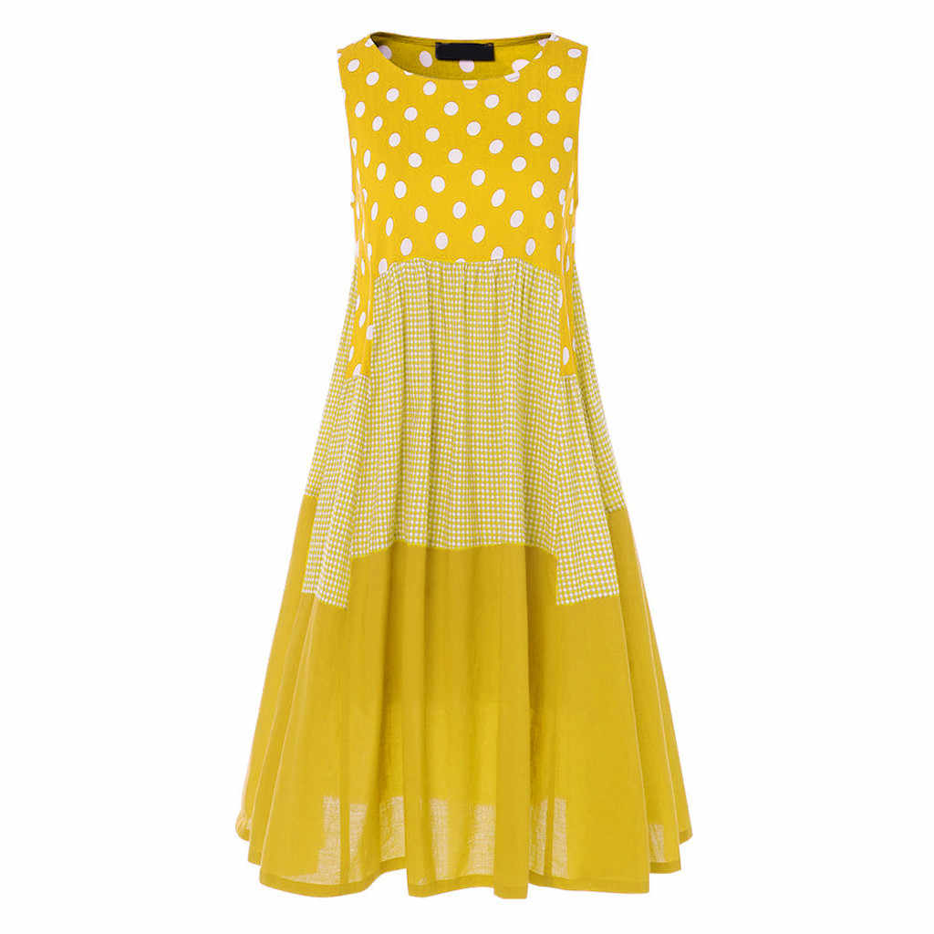 Maxi robe femmes nouvelle robe MAXIORILL летнее платье Vintage Floral d'été plage bohème Sans Manches T-shirt robe grande taille #3