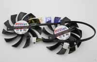 2Pcs Lot 85mm NewFD7010H12S 12V 40mm Hole Graphics Video Card Fan Replacement For Sapphire HD 7790