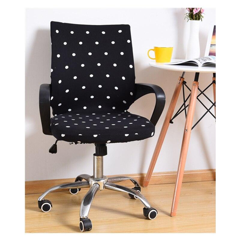 Chaise pivotante de bureau moderne couvre une pièce chaise d'ordinateur rotative couverture imprimée élastique Spandex siège couvre housse de chaise