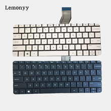 New US laptop Keyboard for HP stream 11-d 11-d011wm 11-D010WM 792906-001 794447-001 English white and black no frame(China)