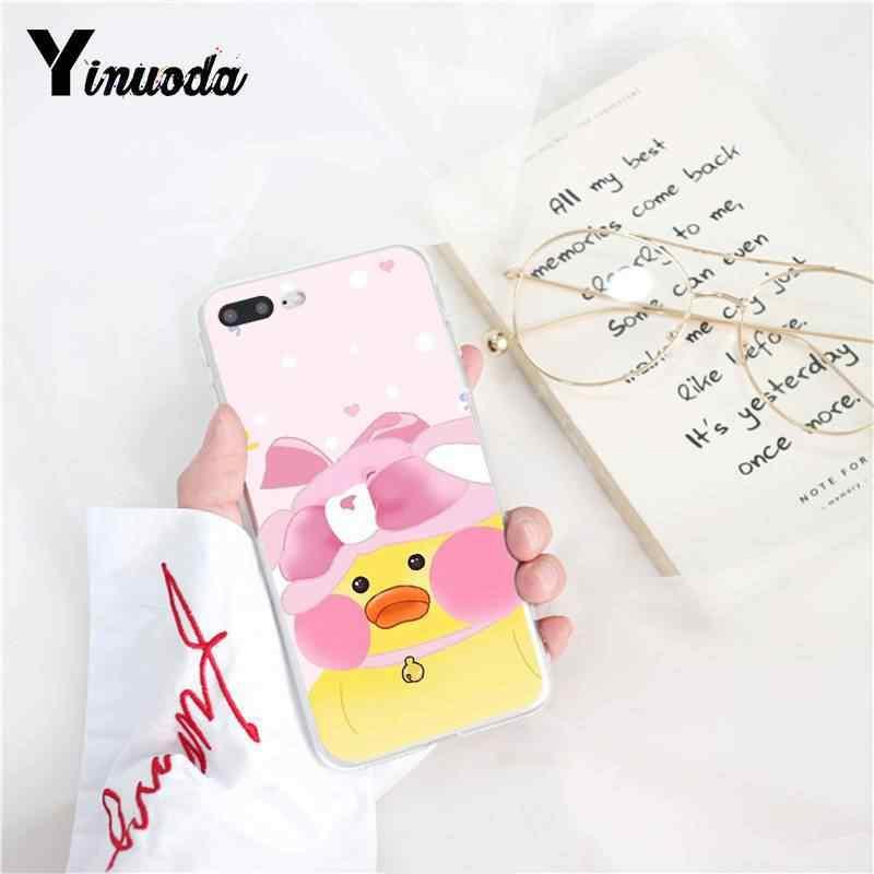Yinuoda Hoạt Hình Màu Vàng Trắng Dễ Thương Vịt Mềm Điện Thoại TPU Cho iPhone X Xsmax 6 6S 7 7 Plus 8 8Plus 5 5S XR 10 11 11pro 11 Promax