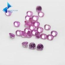 Заводская цена 125 # размер 1 ~ 3 мм круглый розовый камень