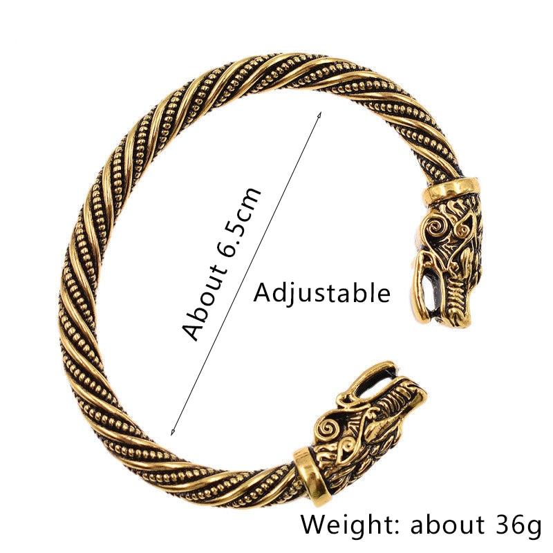 Bracelet tête de loup  3