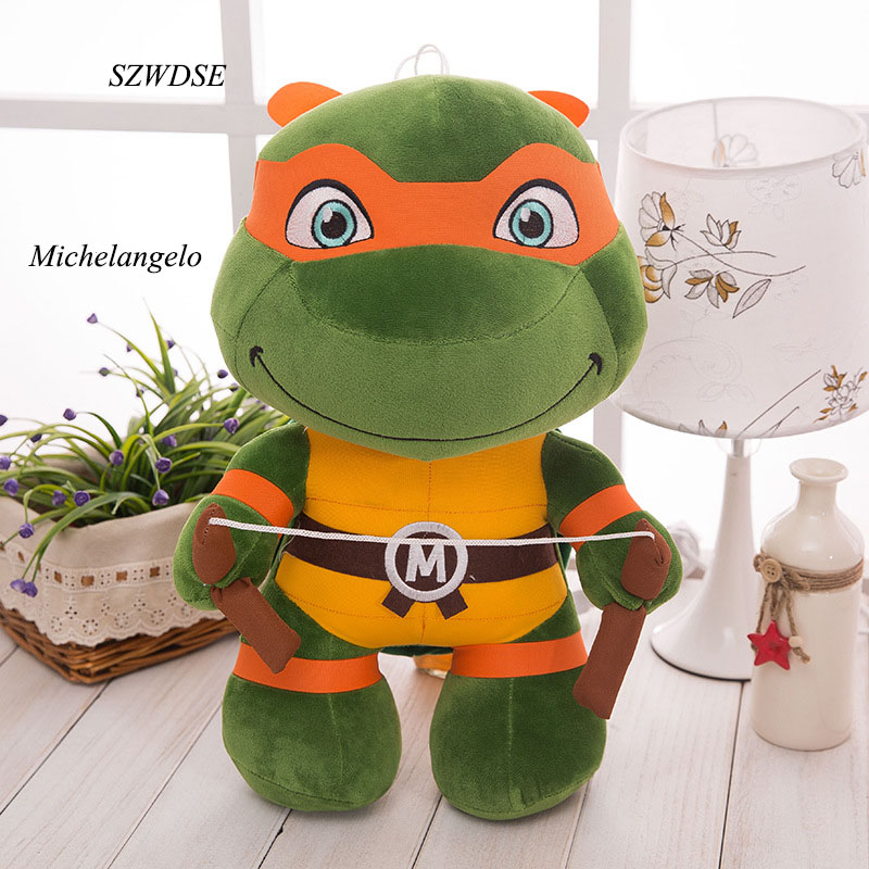 9.8/13.8Inch Children's plush toy movies hero Big eyes tortoise Leonardo Donatello Raphael Michelangelo boy's Plush Doll toys 150cm the big hero 6 plush toys big size baymax plush dolls movies