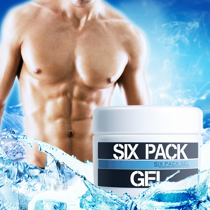 Japan Six Pack Hot Gel Massage Cream for Body Slimming Gel Anti Cellulite Weight Loss Diet Support Potbelly Remover Cold Therapy