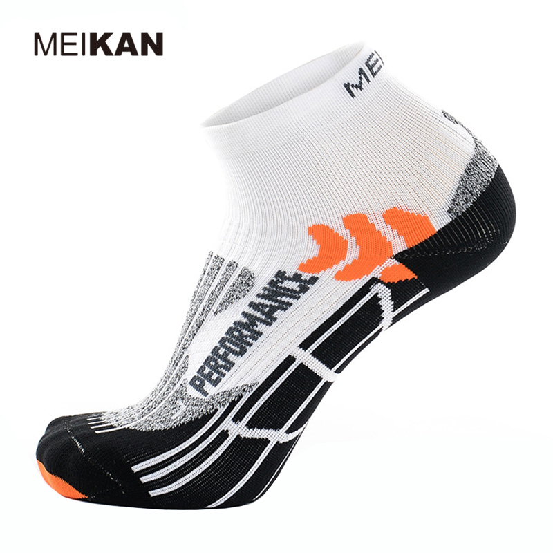 Prix pour MEIKAN Hommes de Professionnel Marathon Sport Chaussettes de Course Coolmax Respirant Portable Gauche Et Droit Pied Conception Haute Élasticité