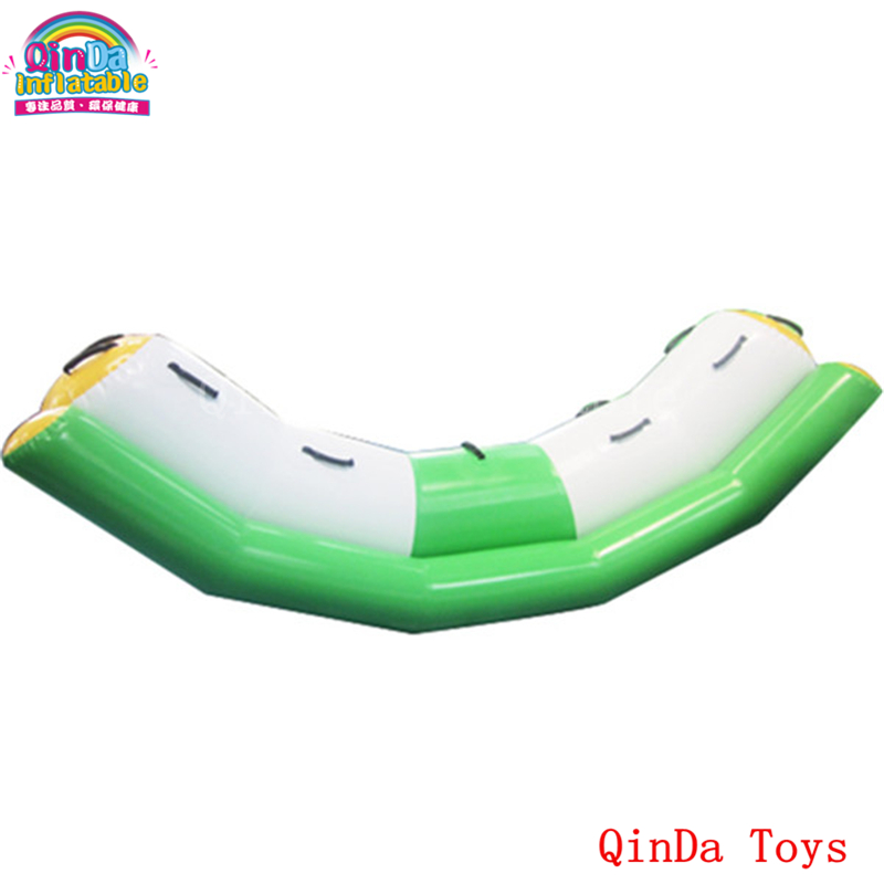 3*1.2 inflatable aqua seesaw equipment ,free air pump inflatable water teeterboard for kids and adults river treasure water sport toys inflatable water seesaw