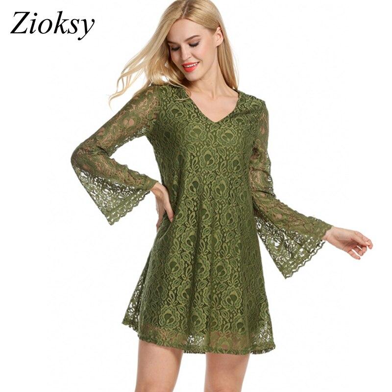 Zioksy 2017 New Fashion Women Dress Loose Lace Dress Summer