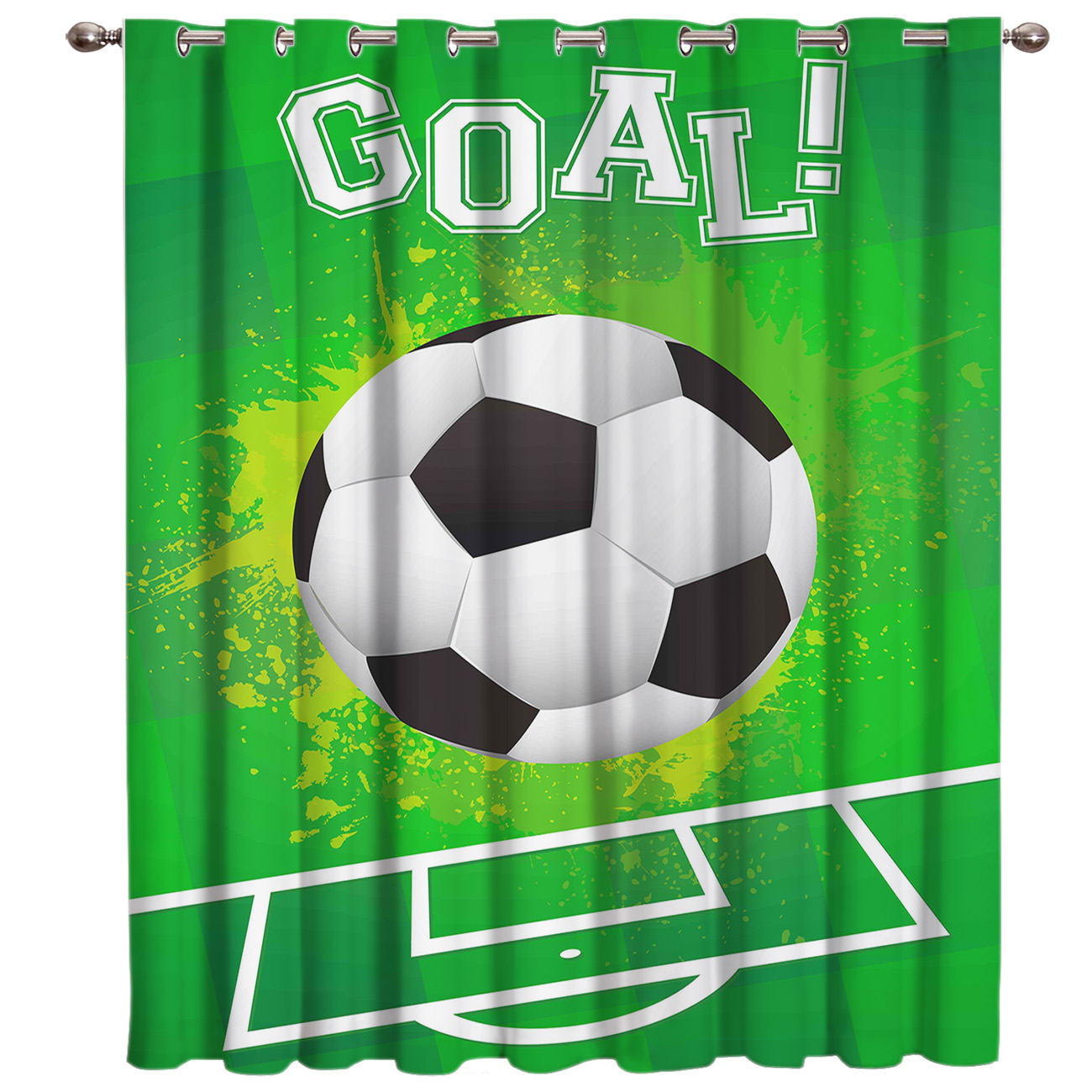 Soccer Curtains Balls Football Design 3D Window Curtains For Living Room Bedroom Kitchen Cortinas Para Sala De Estar Polyester
