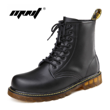 Fashion Leather Winter Boots Plus Fur Men&Women Shoes High Top Super Warm Winter Shoes Woman Snow Boots