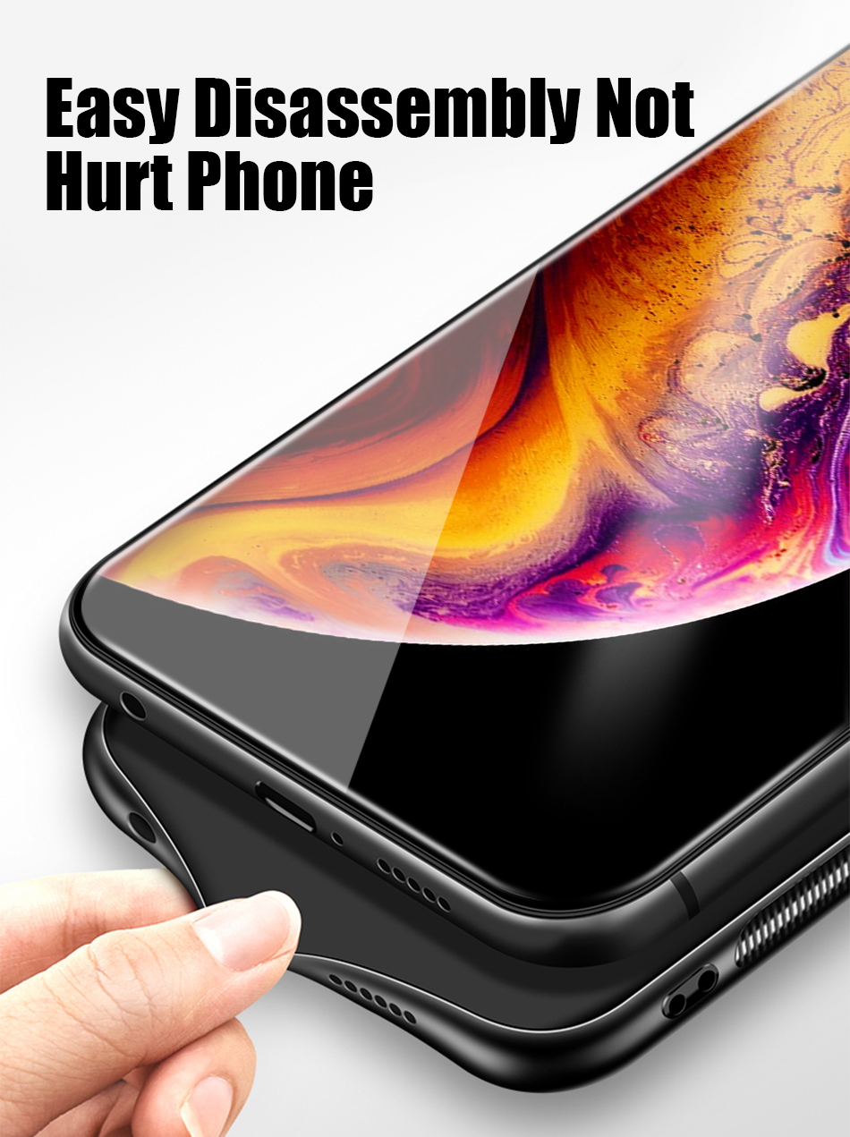 TOMKAS Tempered Glass Silicone Case For iPhone XS Max XR Star Space Cover Phone Case For iPhone X S XS Plus XR 10 Luxury Cases X (13)