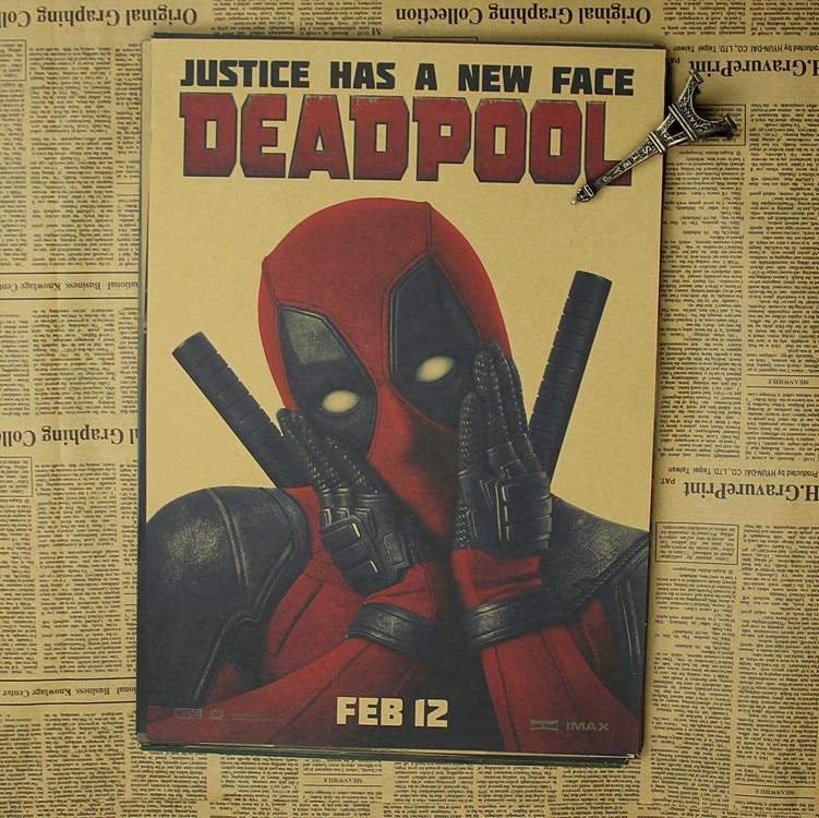 Deadpool Poster / Marvel superhjälte dekoration målning - Heminredning - Foto 6
