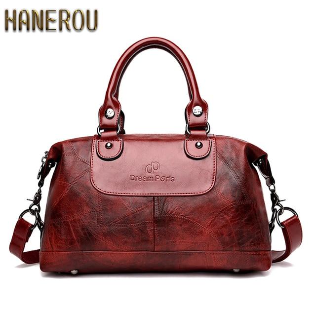 Schoudertas Dames 2019New Fashion Women Shoulder Bag PU Leather Luxury Handbags Women Bags Designer Vintage Ladies Hand Bag