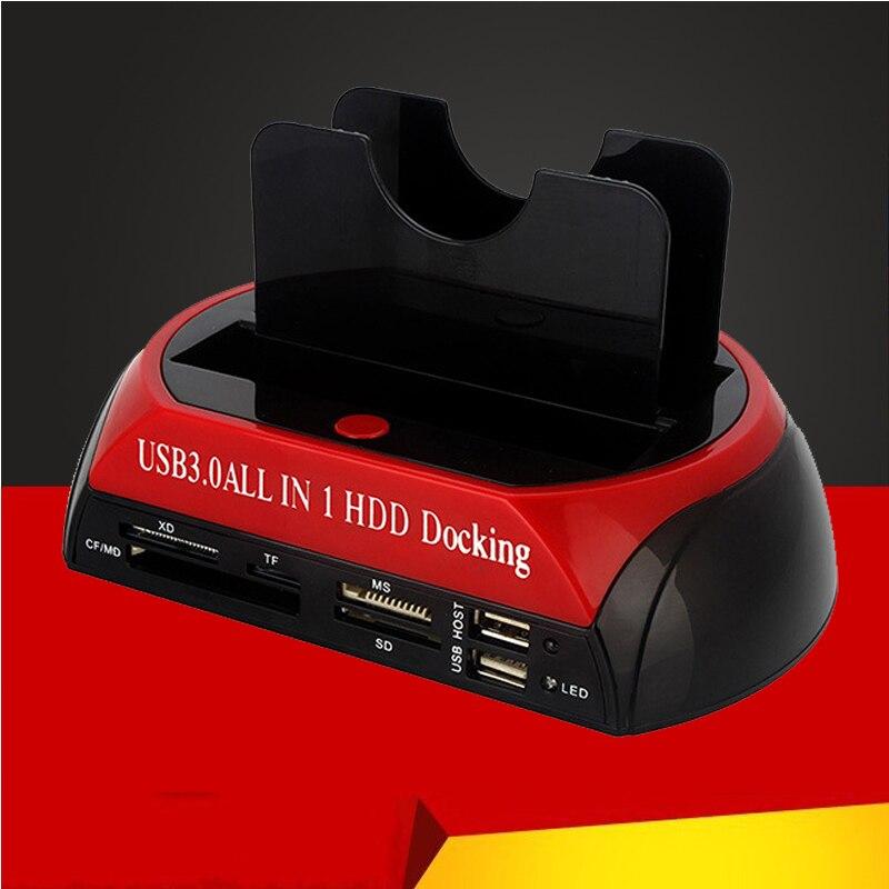 USB 3.0 Tout en Un lecteur de cartes multi Slot pour fermoir hdd Station d'accueil pour disque dur 2.5/3.5 pouces SATA/disque dur ide Station D'accueil