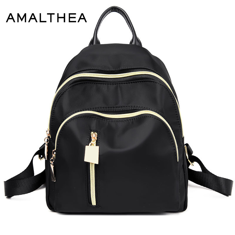 AMALTHEA Womens Backpacks For Girls Teenagers Anti Theft Backpack Schoolbag Feminine Small Mini Backpack Women Backpacks Female