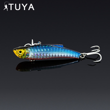 Купить с кэшбэком 1pc 7.3cm 18.95g Wobbler Fishing Lure Minnow Bass Lifelike Bionic VIB Lure 6# Owner Hooks peche isca artificial 37#